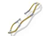 925 Sterling Silver with Yellow Finish Moon Cut Beads Wavy Cuff Bracelet style: 9255739GB