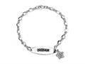 Dream Sterling Silver ID Charm Bracelet with Cubic Zirconia (CZ)