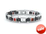 Tonino Lamborghini Primo Collection Stainless Steel Bracelet with Three Red Crystal Stones style: TBR004000