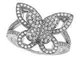 Zoe R™ 925 Sterling Silver Micro Pave Hand Set Cubic Zirconia (CZ) Butterfly Ring style: BM10248