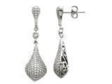 Zoe R™ Sterling Silver Micro Pave Hand Set Cubic Zirconia (CZ) Earrings style: BM20593