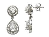 Zoe R™ Sterling Silver Micro Pave Hand Set Cubic Zirconia (CZ) Earrings style: BM20621