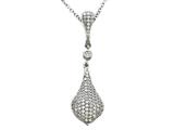 Zoe R™ Sterling Silver Micro Pave Hand Set Cubic Zirconia (CZ) Pendant style: BM30317