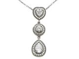 Zoe R™ Sterling Silver Micro Pave Hand Set Cubic Zirconia (CZ) Pendant style: BM30410