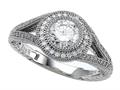 Zoe R™ 925 Sterling Silver Micro Pave Hand Set Cubic Zirconia (CZ) Engagement Ring