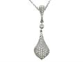 Zoe R™ Sterling Silver Micro Pave Hand Set Cubic Zirconia (CZ) Pendant Necklace