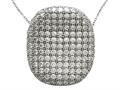 Zoe R™ Sterling Silver Micro Pave Hand Set Cubic Zirconia (CZ) Pendant