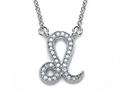 Zoe R™ Sterling Silver Micro Pave Hand Set Cubic Zirconia (CZ) Leo Zodiac Pendant Necklace On 18 Inch Adjustable Chain