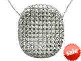 Zoe R™ Sterling Silver Micro Pave Hand Set Cubic Zirconia (CZ) Pendant style: BM30353