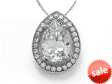 Zoe R™ 925 Sterling Silver Micro Pave Hand Set Cubic Zirconia (CZ) Pear Shape Pendant Necklace style: BM30355T