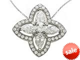 Zoe R™ Sterling Silver Micro Pave Hand Set Cubic Zirconia (CZ) Pendant Necklace style: BM30437