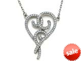 Zoe R™ Sterling Silver Micro Pave Hand Set Cubic Zirconia (CZ) Heart Pendant Necklace style: BM30494W