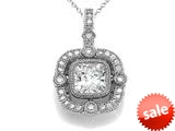 Zoe R™ 925 Sterling Silver Hand Set Cushion Cut Cubic Zirconia (CZ) Pendant Necklace style: BM30502T