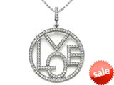 Zoe R™ Sterling Silver Micro Pave Hand Set Cubic Zirconia (CZ) Love Pendant Necklace style: BM30508