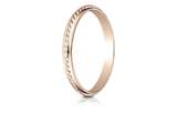 Benchmark® 14k Rose Gold 2mm High Polished Rope Center Design Band style: 7201514KR