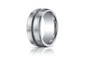 Benchmark® Argentium Silver 10mm Comfort-fit Satin-finished Design Band