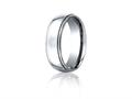 Benchmark® Cobalt Chrome™ 7mm Comfort-fit High Polished Design Ring