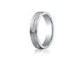 Benchmark® Argentium Silver 5mm Comfort-fit 6-stone Diamond Design Band