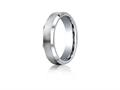 Benchmark® Cobalt Chrome™ 6mm Comfort-fit Satin-finished Beveled Edge Design Ring