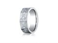 Benchmark® Cobalt Chrome™ 7mm Comfort-fit Cross Design Ring