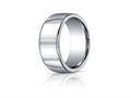 Benchmark® Argentium Silver 10mm Comfort-fit High Polished Design Band