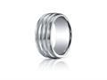 Benchmark® Argentium Silver 10mm Comfort-fit Satin-finished Braid Design Band