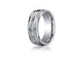 Benchmark® Cobalt-Chrome™ 8mm Comfort-fit Satin-finished Wedding-Band