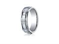 Benchmark® Cobalt Chrome™ 7mm Comfort-fit Satin-finished Round Edge Design Ring