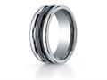 Benchmark® 8mm Tungsten Forge® Wedding Ring with Seranite Center