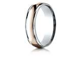 Benchmark® 14k Two-toned 6mm Comfort-fit High Polished Carved Design Band style: CF21608