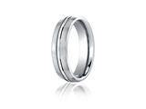 Benchmark® Cobalt Chrome™ 6mm Comfort-fit Satin-finished Design Ring style: CF56411CC