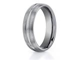 <b>Engravable</b> Benchmark® 6mm Comfort Fit Tungsten Carbide Wedding Band / Ring style: CF56411TG