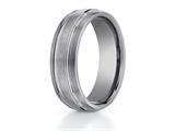 <b>Engravable</b> Benchmark® 7mm Comfort Fit Tungsten Carbide Wedding Band / Ring style: CF57444TG