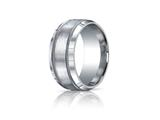 <b>Engravable</b> Benchmark® Argentium Silver 10mm Comfort-fit Satin-finished Rope Edge Design Band style: CF610476SV