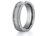 <b>Engravable</b> Benchmark® 7mm Comfort Fit Tungsten Carbide Wedding Band / Ring style: CF67001TG