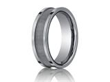 <b>Engravable</b> Benchmark® 7mm Comfort Fit Tungsten Carbide Wedding Band / Ring style: CF67450TG