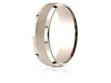 Benchmark® 14 Karat Rose Gold 7mm Comfort-fit High Polish Round Edge Cross Hatch Center Design Band style: CF6746914KR