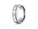 <b>Engravable</b> Benchmark® 7mm Comfort Fit Hammered-Finished  Wedding Band / Ring style: CF67502CC