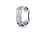 <b>Engravable</b> Benchmark® Cobalt Chrome™ 7mm Comfort-fit Cross Design Ring style: CF67553CC