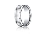 <b>Engravable</b> Benchmark® Cobalt Chrome™ 7.5mm Comfort-fit Satin-finished Concave Design Ring style: CF67555CC