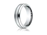 <b>Engravable</b> Benchmark® Cobalt Chrome™ 7.0mm Comfort-fit Satin-finished Blackened Design Ring style: CF67675CC