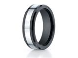 <b>Engravable</b> Benchmark® 7mm Tungsten Forge® Wedding Ring with Seranite Edge style: CF67860CMTG