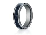 <b>Engravable</b> Benchmark® 7mm Tungsten Forge® Wedding Ring with Carbon Fiber Center style: CF67900CFTG