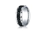 Benchmark® Cobalt Chrome 8mm Comfort Fit Wedding Band / Ring style: CF68900CFCC
