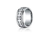 <b>Engravable</b> Benchmark® Argentium Silver 10mm Comfort-fit Celtic Cross Design Band style: CF710401SV