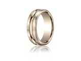 Benchmark® 7.5mm Comfort-fit Satin-finished High Polished Center Cut Carved Design Band style: CF71750514KR