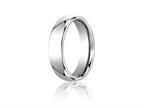 Benchmark Cobalt Chrome 6mm Comfort-fit High Polished Design Ring Style number: CF160CC