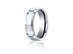 Benchmark Cobalt Chrome 7mm Comfort-fit High Polished Beveled Edge Design Ring Style number: CF67426CC