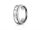 Benchmark 7mm Comfort Fit Hammered-Finished  Wedding Band / Ring Style number: CF67502CC
