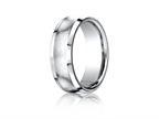 Benchmark Cobalt Chrome 7.5mm Comfort-fit Satin-finished Concave Design Ring Style number: CF67555CC